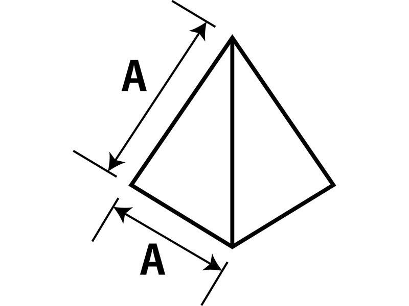 テトラ型成型サイズ(AxA)