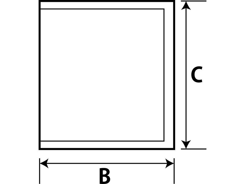 テトラ型個包装サイズ(BxC)